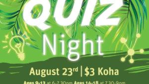 PIHINGA – Quiz night launch