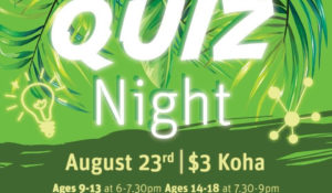 PIHINGA – Quiz night launch